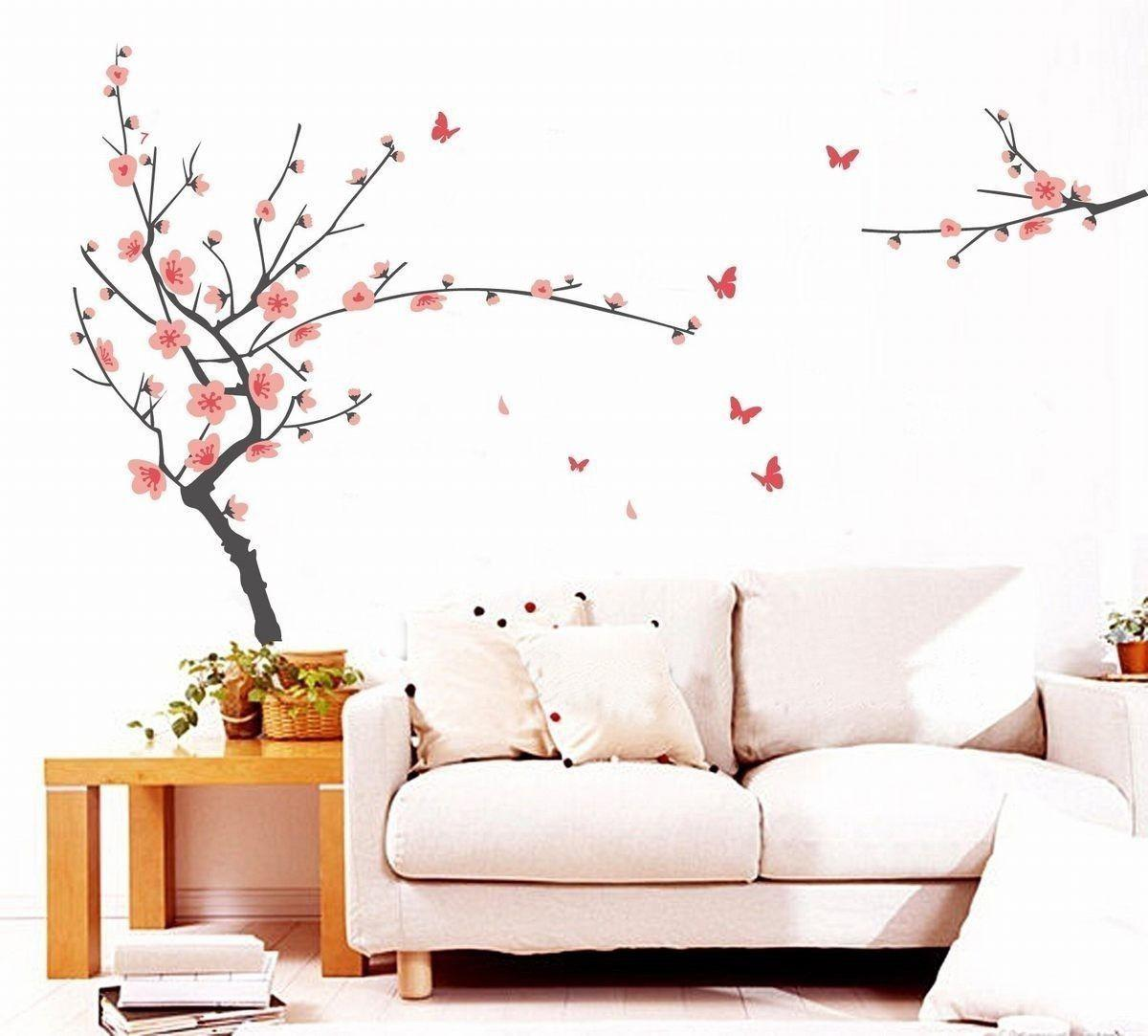 Wall Art Decor Mural Desprendible Pegatina Decal PVC Cherry Blossom Ciruelas ciruela