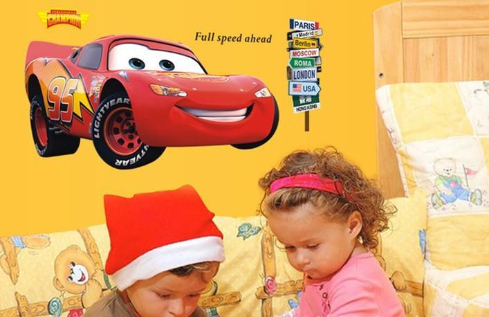 New Three Generations Duplex Wall Sticker Cars Lightning Mcqueen ...