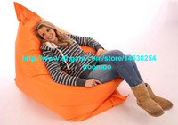 Fabric outdoor pillows orange - Giant Outdoor bean bag Big Pillow Cushion Versitle function bean bags home furniture ORANGE