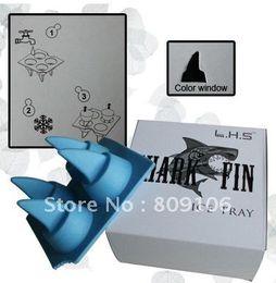 Wholesale Shark Ice Mold - Wholesale ,Silicone Ice Cube Mold  Shark fin Ice Cube tray  ,free shipping