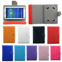 ingrosso nexus compresse-Custodia universale regolabile in pelle PU Custodia Cover per tablet da 7 pollici MID GPS PSP A13 Q88 Samsung Tab2 Tab3 Tab4 7.0 Fire7.0 Google Nexus 7