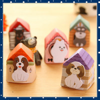 Wholesale FORREST SHOP Kawaii Korean Stationery Dogs Puppy House Animal Sticky Notes Cute Memo Pad MIni Post It Note Pads UP