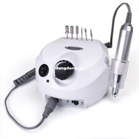 Wholesale Nail Polisher Machine - Wholesale-Professional electric nail drill file machine manicure pedicure bits kit with foot pedal Nail polisher 30000RPM Free Shipping407