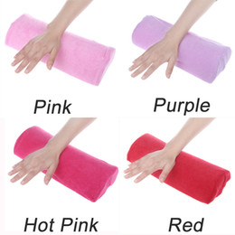 Wholesale Manicure Cushions - Wholesale-2014 High Quality Soft Cotton Cloth Hand Holder Cushion Pillow Nail Arm Towel Rest Nail Art Manicure Makeup Cosmetic Tools407