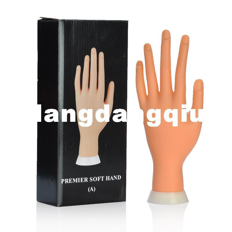 Wholesale Adjustable Nail Art Fake Artificial Soft Model Hand For ...