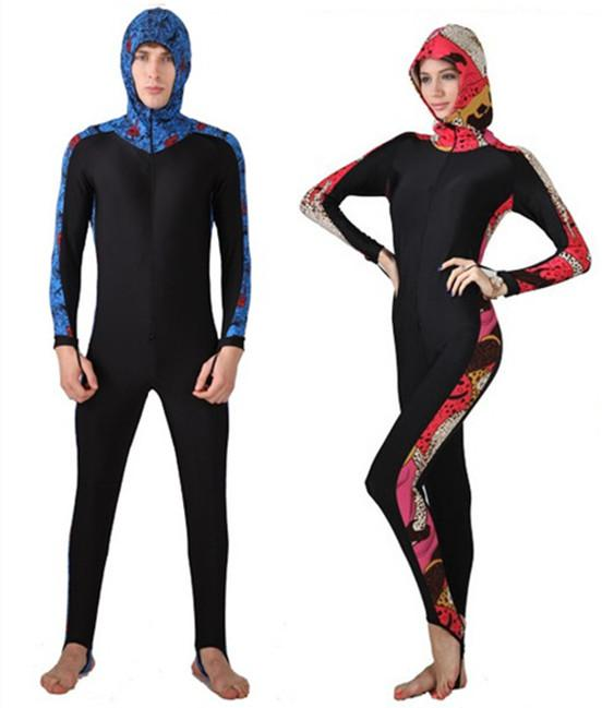 Men's Women's Full Scuba & Snorkeling Suit Wet Suit Diving Suit With Hood S-3XL Rowing Surf Sportswear