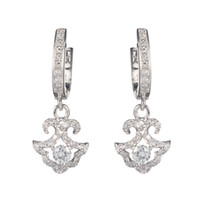 Wholesale S e Classic White Cubic Zirconia Favourite Best Sellers Time limited discount sterling Silver Trendy Earrings