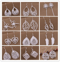 Wholesale Earrings Wholesale Mixed Order Silver - Mixed Order 925 silver plated drop earrings fashion jewelry personalized Christmas to send his girlfriend   wife gift free shipping