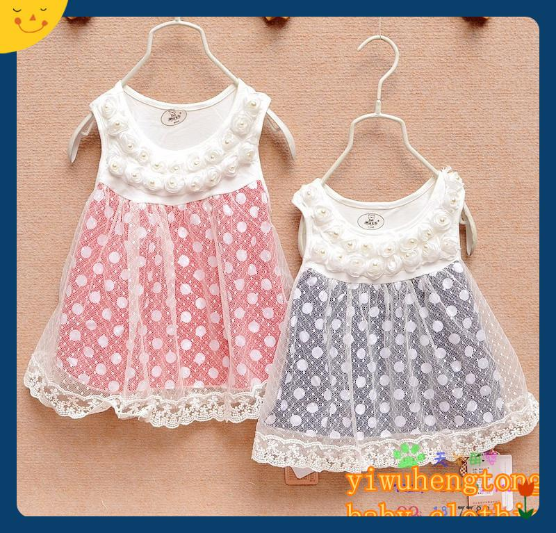 3703804039be 2019 Wholesale 0 3 Month Dresses Girls Dresses Summer 2014 Princess ...