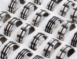 Wholesale Wholesale Wedding Gifts China - Stainless Steel Rings 72X Fashion Finger Ring Hot Steel Ring Jewelry Fit Men CHeap Wholesale free [SR22*72]