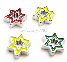 "Wholesale Diy Slide Charms Stars - 20pcs lot ""Star"" floating charms DIY charms for necklace & bracelets fashion charms accessories glass Locket charms LSFC078*20"
