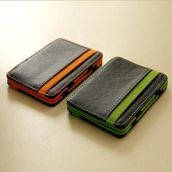 new hot magic creative money clip leather wallet id bag