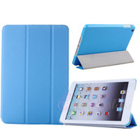 Wholesale Ipadmini Stand - For Apple iPad Mini Tri-Fold Slim Smart Leather Case Cover 7.9 inch Sleep Wake w  Stand For ipadmini