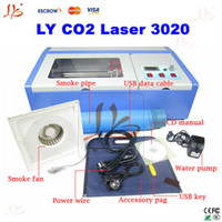 Wholesale Digital Machine Laser - New Version laser cutter LY cnc 3020 CO2 laser engraving machine 40W with digital function and honeycomb