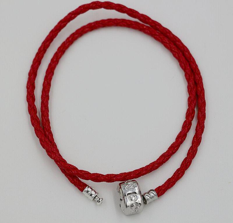 ¡Venta caliente! 57- pulseras de cuero dobles del color caben los granos europeos de los encantos 179