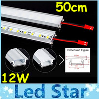 Wholesale Types Led Light Strips - 50cm Led Bar Light U Type Aluminum Alloy Slot 12W Led Rigid Strips Light Warm Pure Cool White 72Leds M SMD 5630 LED Tube Hard LED Strips 12V