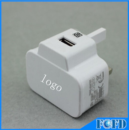 Wholesale Galaxy S3 Logo - Wall Charger UK Plug with logo for Samsung Galaxy S3 s4 s5 I9300 I9220 N7100 New