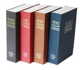 Wholesale Dictionary Book Safe - Metal Cash Secure Hidden New English Dictionary Booksafe Homesafe Money Box Coin Books Safe Secret Piggy Bank M size freeshipping