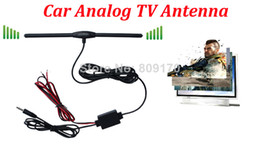 Wholesale Gps Booster - Promotion ! Car Analog TV Aerial for Car DVD GPS with DC 3.5 Connector, AMP Booster Amplifier, Car Antenna+Free shipping