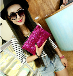 Wholesale Wholesale Cluth Bags - 2014 Women Fashion sliver Sparking glitter bling paillette cluth purse Pocket Ladies Evening Party handbag bag Cosmetic bag free shipping
