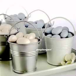 Wholesale Decoration Pails - Galvanized mini pails wedding favors, mini bucket, candy boxes favors wedding candy box decoration #z204
