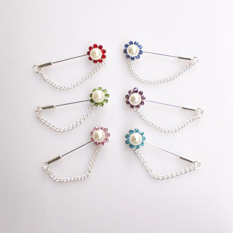heißer verkauf 24 stücke Kette Brosche Hijab Pin für Schal hijab pins in 48mm lang kostenloser versand