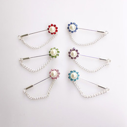 china free shipping scarf Canada - hot selling 24 pcs Chain Brooch Hijab Pin for Scarf hijab pins in 48 mm long free shipping