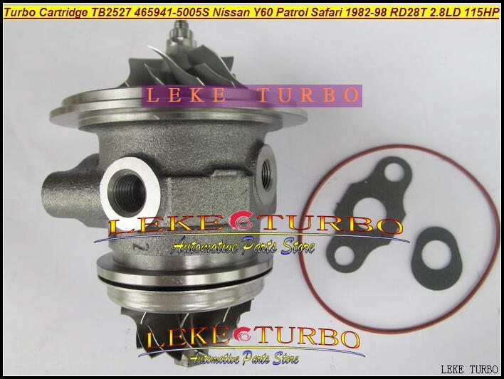 TB2527 465941-0005 452022-0001 465941 Turbocharger Cartridge Turbo Chra Core for Nissan Y60 Patrol Safari TD 1991-1997 RD28T 2.8L D 115HP
