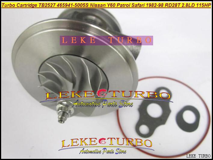 TB2527 465941-0005 452022-0001 465941 Turbocompressore a cartuccia Turbo CHRA Core NISSAN Y60 Patrol Safari TD 1991-1997 RD28T 2,8L D 115HP