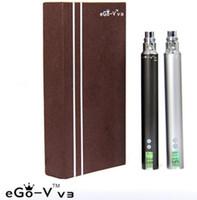 Wholesale V3 Ego E Cig - EGO-V V3 Battery eGo v v3 battery variable voltage battery 1300mah ego VV3 battery e cig battery ego vv3 battery Electronic Cigarette