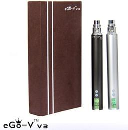 Wholesale Ego V3 - EGO-V V3 Battery eGo v v3 battery variable voltage battery 1300mah ego VV3 battery e cig battery ego vv3 battery Electronic Cigarette