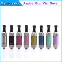 Wholesale Mini Metal Vivi Nova Tanks - Aspire mini Vivi Nova-S Glass BDC Clearomizer 100% Original Aspire mini Vivi Nova S Glass BDC Clearomizer pyrex glass tank 002391