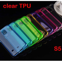 Wholesale Wholesale Galaxy Galaxys5 - For Samsung Galaxy S5 Crystal Transparent Clear Soft TPU Gel Case Cover For GalaxyS5 S 5 i9600