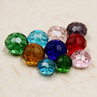 Wholesale Chinese Glass Tops - 500pcs lot Chinese Top A Grade Quality Faceted Crystal Glass Quartz 10mm Rondelles Loose Spacer Beads Multi Colors DIY Material BBA020