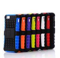 Wholesale galaxy s5 kickstand cover resale online - 2 in KickStand Rugged Heavy Duty TPU PC Hybrid Shock Proof Cover Cases For Iphone s s SE c s TOUCH Galaxy s4 s5 s5 mini