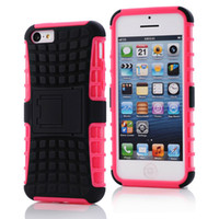 Wholesale shock iphone 5c online - 2 in KickStand Rugged Heavy Duty TPU PC Hybrid Shock Proof Cover For Iphone s s SE c s Touch Galaxy s4 i s5 s5 mini P
