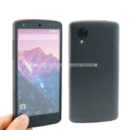 Wholesale Nexus Clear Case - S5Q 0.3mm Ultra Thin Clear Black Cover Case Back Skin For Google LG Nexus 5 D820 AAADNF