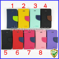 Wholesale Galaxy S3 Silicone Case Flip - Mercury Flip PU Leather Case Wallet case For Samsung Galaxy S5 S4 S3 Note2 3 S4mini iphone 5 5S 5C 6 7 7plus