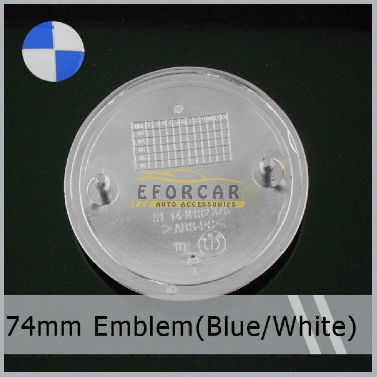 74mm / 82mm Auto Aufkleber Auto Emblem Abzeichen Hood Vorderes Hinterkofferraum Logo Blau Weiß Freies Verschiffen