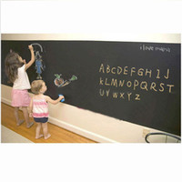 Wholesale Removable Vinyl Blackboard - Blackboard Black Chalkboard Wall Paper Decal Sticker 45*200cm Removable Chalk Board Decor Stickers Kids Girls Boys H10322