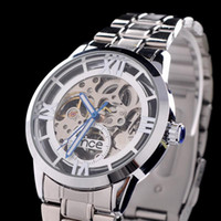 Wholesale Mce Watches - 2014 New Arrival Men Automatic Self-Wind Watch Mechanical Brand MCE Men Full Steel Watch Self Wind Relogio Masculino Orologio