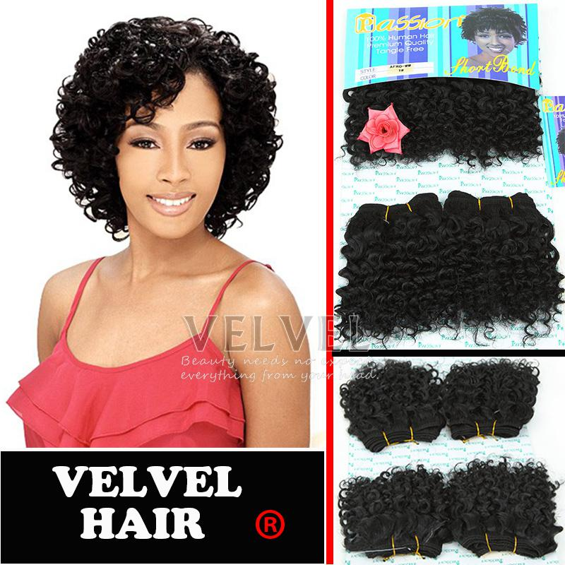 Passion Afro Ww Human Hair Blend Synthetic Hair Extension Curly Hair