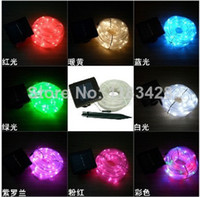 Wholesale Energy Neon - X12pcs 12M RGB 100led Solar energy lamp tube light single color garden light Neon lights waterproof outdoor led lamp Free Ship