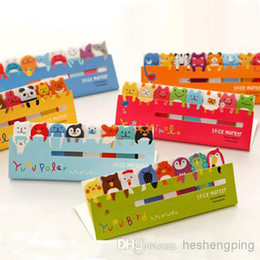 Wholesale Index Sticky Note - Wholesale - 120 Page Cute Animal Sticker Post It Bookmark Marker Memo Index Tab Sticky Notes