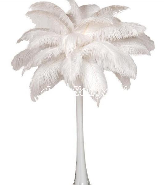 factoryprice nouveau 8-22 pouces (20-55cm) blanc plume autruche plumes pour la décoration de décoration événement fête de mariage de pièce maîtresse de mariage de fête Z134