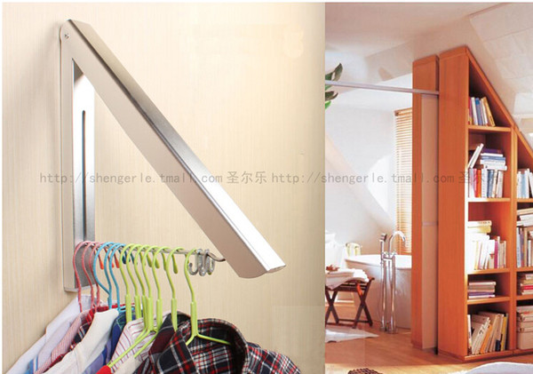 top popular Luxury Foldable Bathroom Accessories Wall Mounted Clothes Holder Laundry Hanger 2019