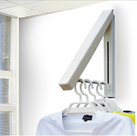 Wholesale wall mount hanger holder - Modern Wall Mounted Bathroom Accessories Clothes Holder Foldable Laundry Hanger