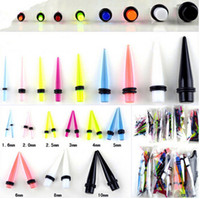 Wholesale Ear Stretcher Tapers - Stretcher Stretching Piercing 180pcs MIX Acrylic Ear Plugs Taper Gauges Expander Free Shipping[BC13(180)*1]