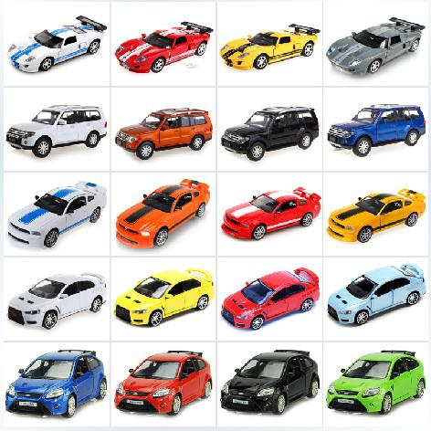Genuine Ford Gt  Amber Color Mitsubishi Pajero Back Sound And Light Alloy Car Toy Model Three Shipping Toys Dolls Models A Cars Genuine Ford Gt
