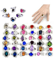 Wholesale wholesale bulk rings - New Wholesale jewelry lots 30X Big Rhinestone Crystal Ziron Silver P Rings Bulk Free Shipping[CZ40*30]